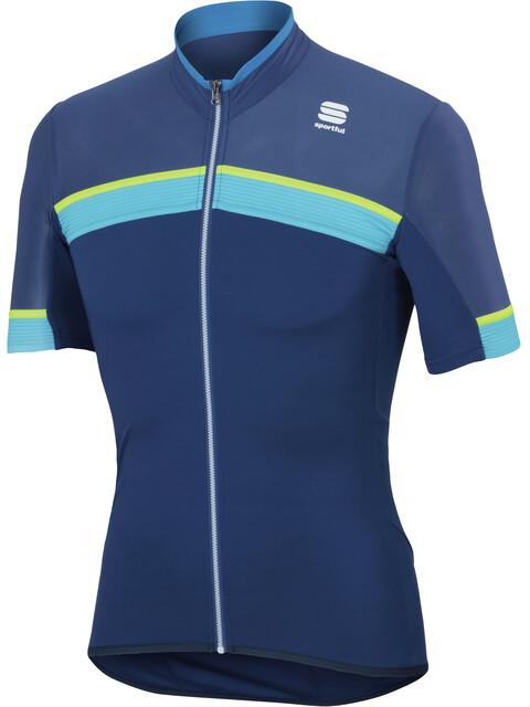 Sportful Pista - Maillot manches courtes Homme - bleu/turquoise